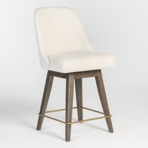 Thumbnail of Alder & Tweed Furniture - Jackie Counter Stool in Warm Cotton and Moderna Brown