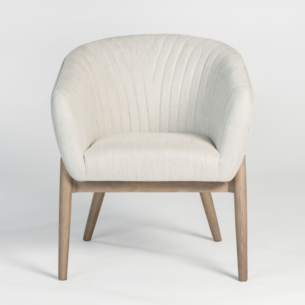 Alder & Tweed Furniture - Payson Dining Chair in Essex Steel and Natural Grain