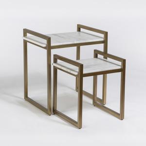 Thumbnail of Alder & Tweed Furniture - Santa Barbara Nesting Tables, sold as a pair