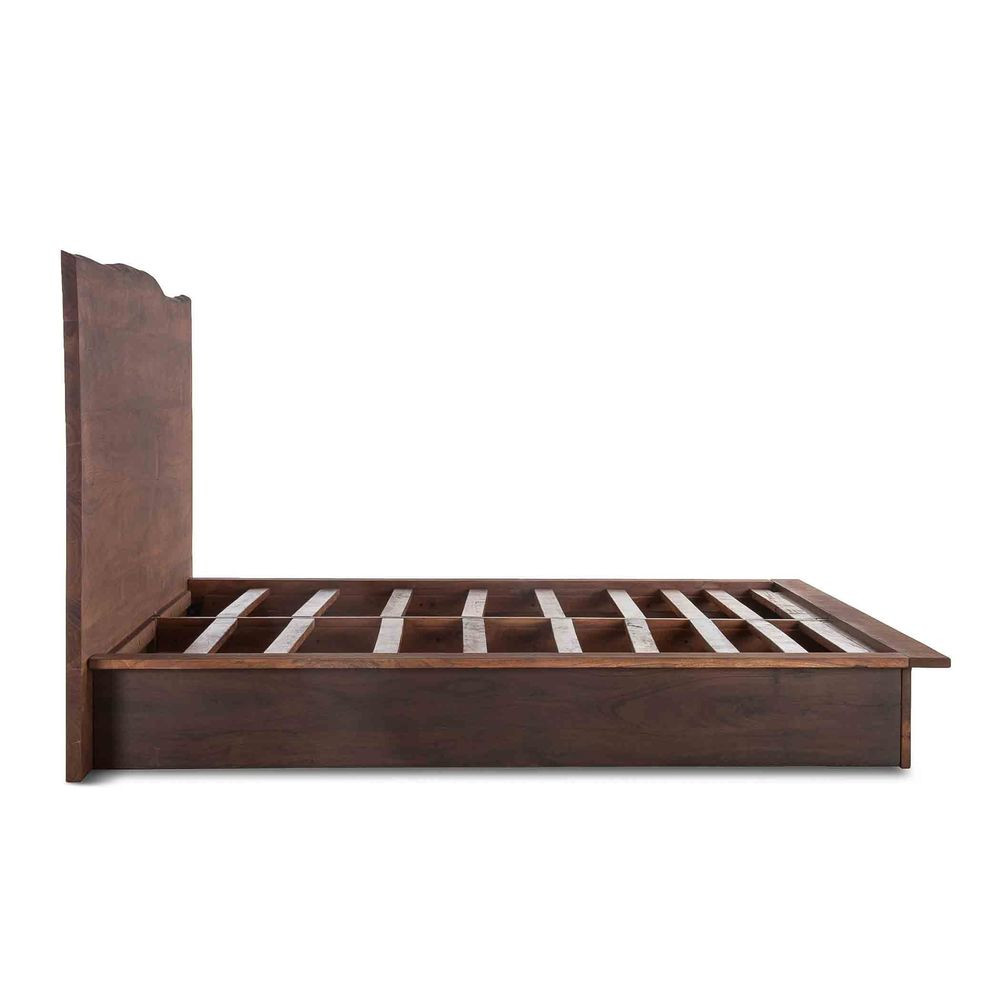 Home Trends & Design - San Marino King Bed Raw Walnut Ebony