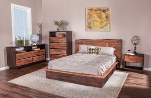 Thumbnail of Home Trends & Design - San Marino King Bed Raw Walnut Ebony